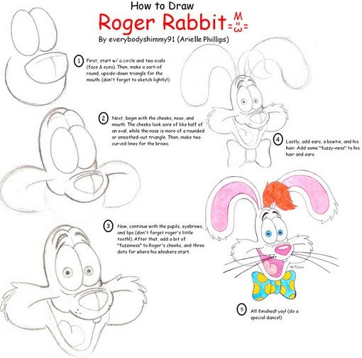 How To Draw Roger Rabbit by everybodyshimmy91