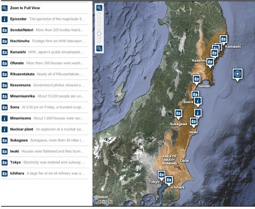 japan earthquake interactive map
