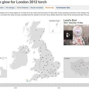 London Olympics Interactive map 300x300