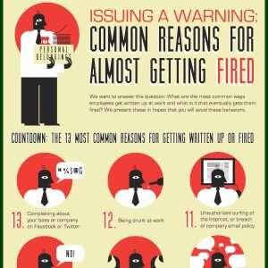 Common reasons for almost getting fired Infographic1 300x300