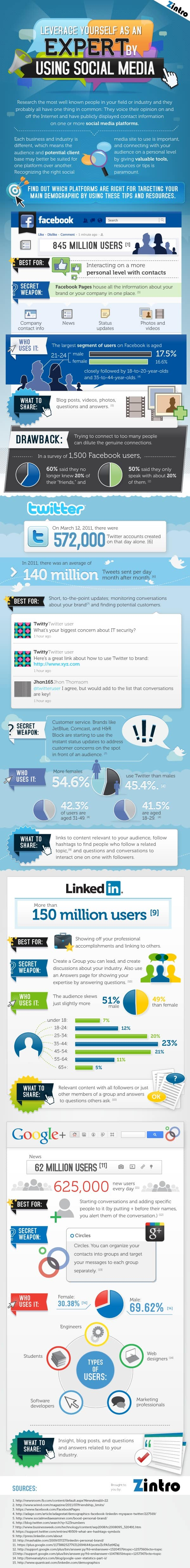 Leveraging Social Media to Showcase Your Expertise INFOGRAPHIC