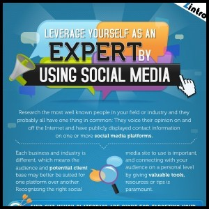 Leveraging Social Media to Showcase Your Expertise INFOGRAPHIC1 300x300
