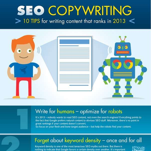 SEO Copywriting - 10 Tips for Writing Content that Ranks in 2013 - Infographic1