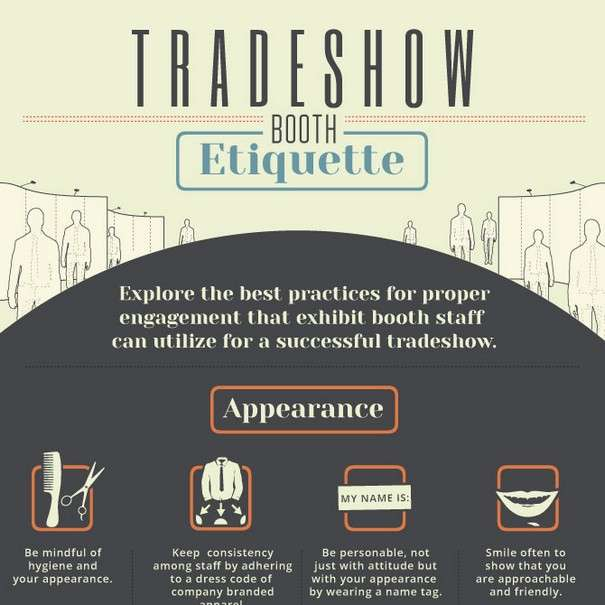 Trade Show Booth Etiquette : Trade show booth etiquette infographic data visualization