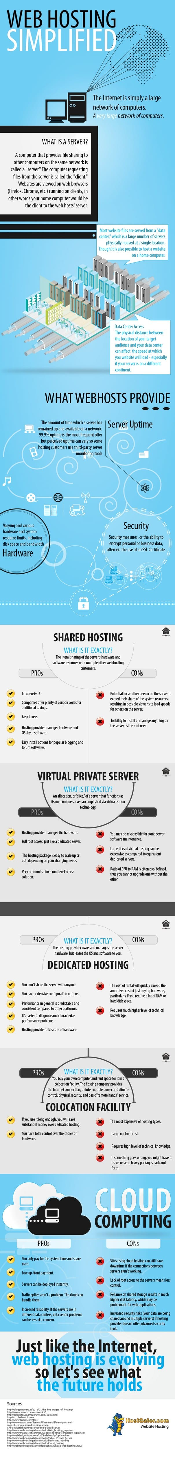 Webhosting Simplified - Infographic