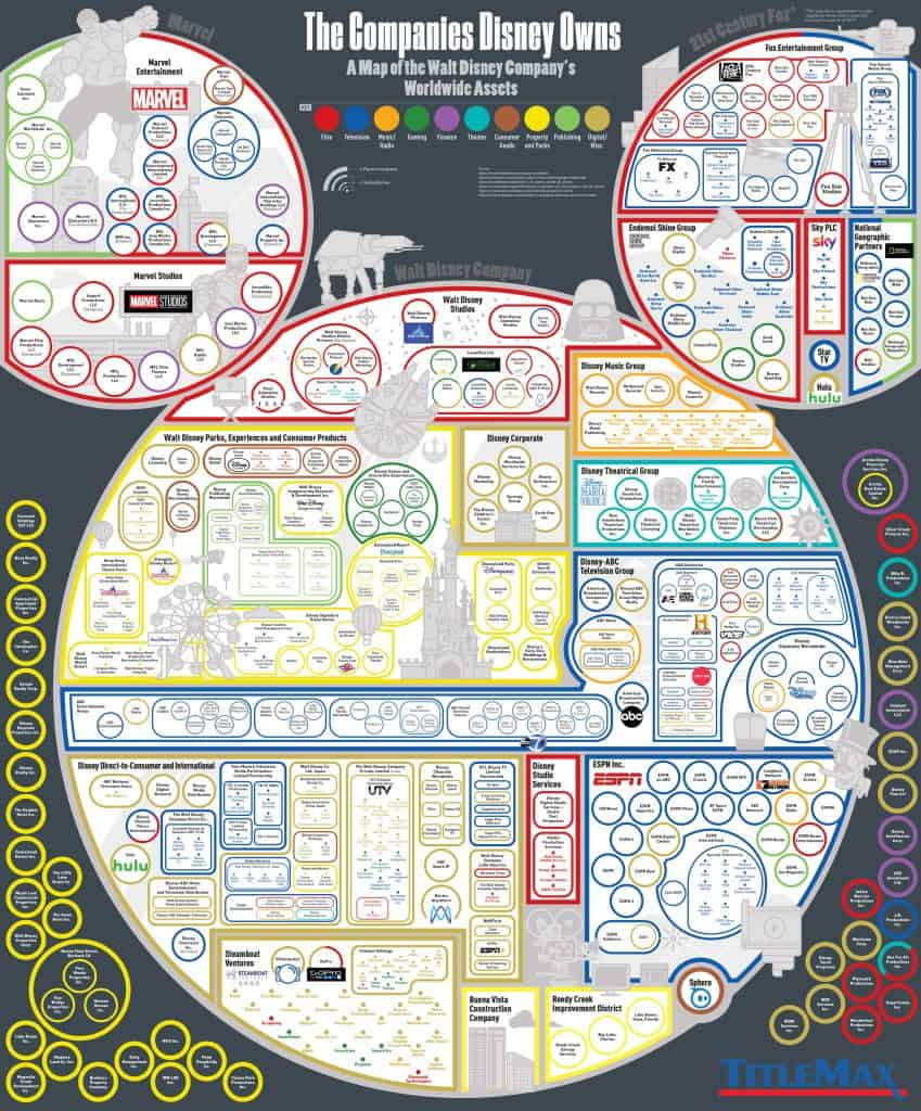 Every Company Disney Owns A Map of Disneys Worldwide Assets 849x1024